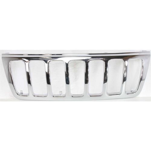 Make Auto Parts Manufacturing Front Grille Chrome For Grand Cherokee 1999 2000 2001 2002 2003 - CH1200221