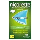 NICORETTE Kaugummi 4mg freshmint – Nikotinkaugummi zur Raucherentwöhnung – Minzgeschmack – mit 4mg Nikotin – Rauchen aufhören -