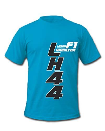 Cold Gun F1 Lewis Hamilton LH44 Racing Driver T-Shirt Gr. M, blau