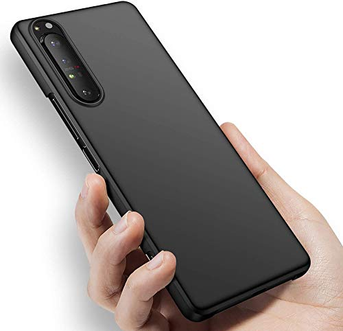 SmartPoint Silicon Candy with Anti Dust Plugs Shockproof Slim Back Cover Case for Sony Xperia 1 II XQ-AT51 - Black