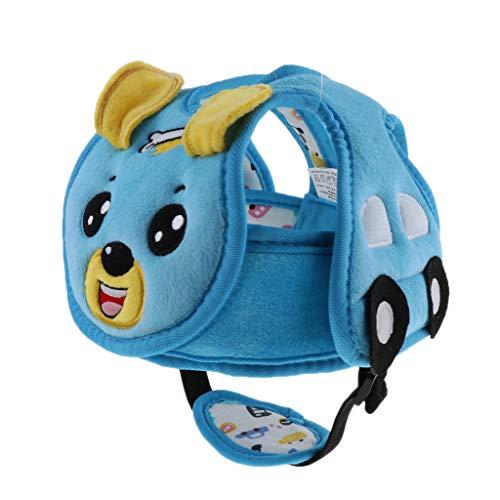 FLAMEER Baby Kleinkind Baby Verstellbarer Sicherheitshut Schutzhelm Babyhelm Helmmütze aus weichem Plüsch und Baumwollstoff - Hund