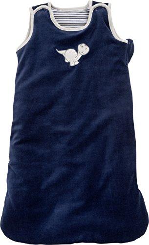 Schnizler Baby-Jungen Nicki Dino Schlafsack, Blau (Marine 11), One Size (Herstellergröße: 70cm)