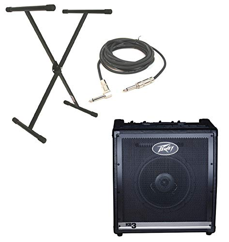 Discover Bargain Peavey KB3 Electronic Keyboard Combo 60W Amp 12 Speaker with X-Brace Stand & 1/4 ...
