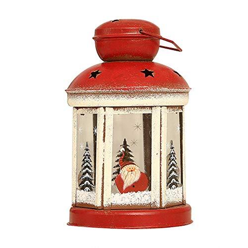 Weihnachtskerzenlaterne Außenlaternen Weihnachtstischdekorationen Zartes eisernes Nachtlicht