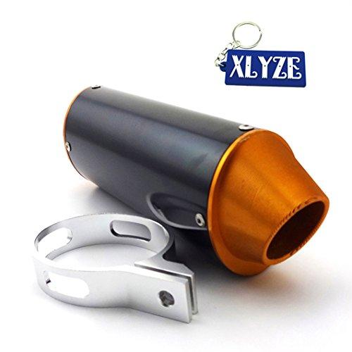 XLYZE 38mm Silenciador de escape CNC para 125cc 140cc 150cc 160cc CRF50 KLX SSR TTR YCF Thumpstar Pit Dirt Bike