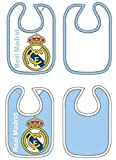 2 Baberos REAL MADRID Celeste y Blanco