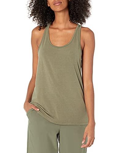 Amazon Essentials Studio Keyhole Tank-Top-and-Cami-Shirts, Verde oliva, US L (EU L - XL)