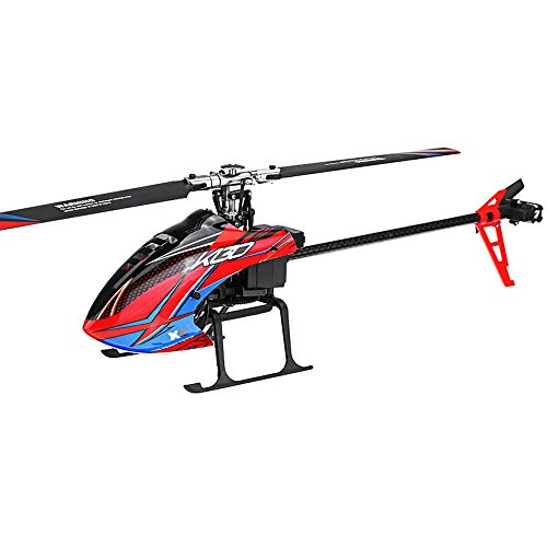 ACHICOO XK K130 2.4G 6CH Brushless 3D6G System Flybarless RC Helicopter BNF Compatible with FU-TABA S-FHSS Without Remote Control 3 Battery