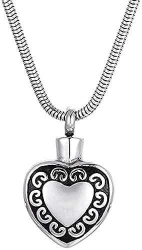TTDAltd Collar Collares Simples y Elegantes para Hombres y Mujeres Collares de Fiesta Varios Collares Colgante Botella de Perfume en Forma de corazón