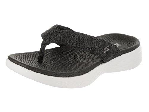 Skechers Women's On-The-go 600-Preferred Flip-Flop Black/White 10
