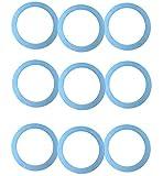 Giannini | Recambios originales Moka 3 tazas C966 3/1 | Junta para cafetera 3 tazas | Máquina de café | Reparación DIY | 9 piezas azul