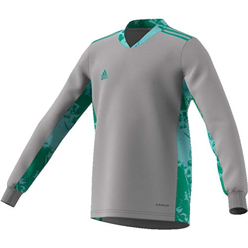 adidas Kinder Adi Pro 20 Goalkeeper Jersey Longsleeve Torwarttrikot, Team mid Grey/Glory Green, 140
