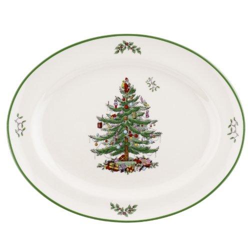 Spode Christmas Tree Rimmed Oval Platter