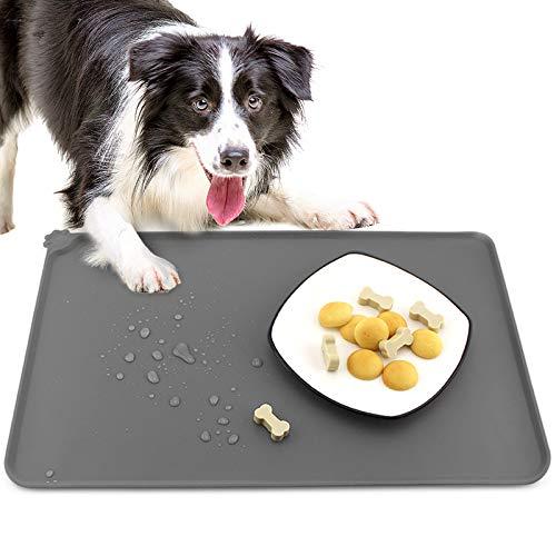 GeeRic Alfombrilla para Comedero de Mascota Silicona,Perros y Gatos Antideslizante Impermeable Tapetes para Comer