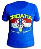 Croacia Skinny Fit–Camiseta para hombre, Unisex, azul, large