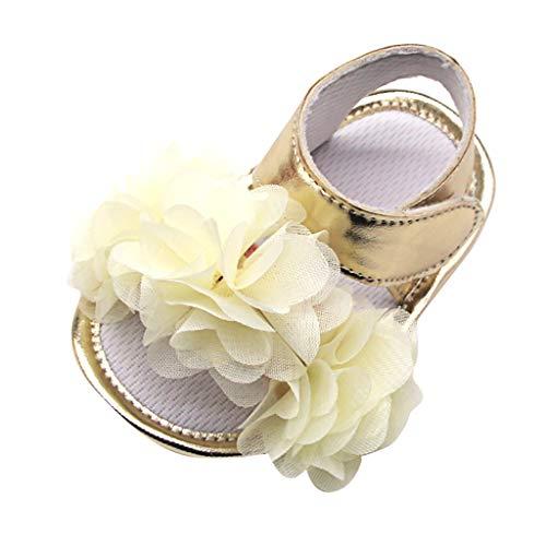 Kaister Mädchen Sandalen Blume Applique Prewalker weiche Sohle Sandalen einzelne Schuhe Badeschuhe