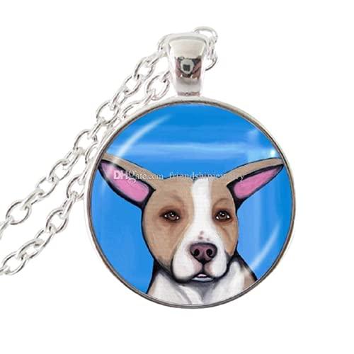 Collar de perro Pit Bull American Pitbull Terrier Pet Puppy Rescue Colgante Bulldog Joyería para amantes de los animales Accesorios