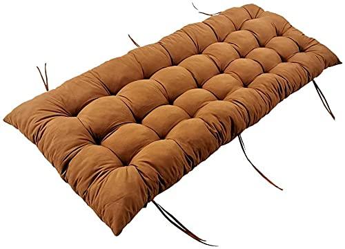wonyine Espesar cómodos cojines de sofá de muebles, cojín de asiento de banco al aire libre, cojín de asiento antideslizante para interiores y exteriores, patio (168 x 53 cm, 2 unidades), color marrón