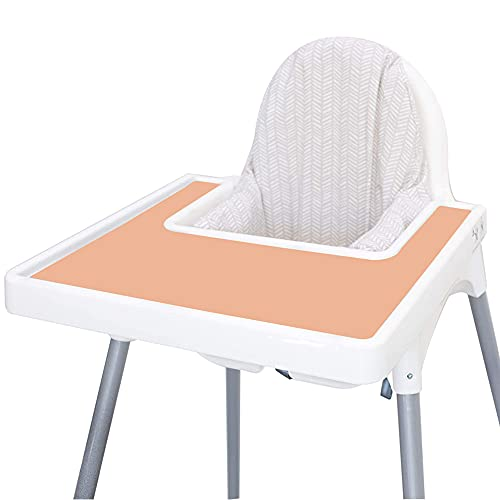 Baby High Chair Placemat for Antilop High Chair, Silicone Mat for Antilop Baby High Chair Tray Accessories, Finger Foods Placemat for Toddler and Babies Girls