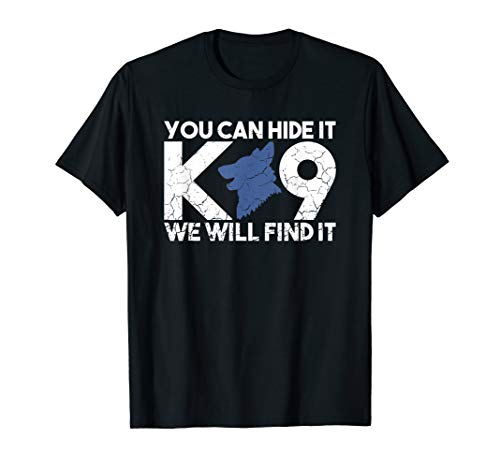 K9 Unit Thin Blue Line K9 Police Tribute T-Shirt