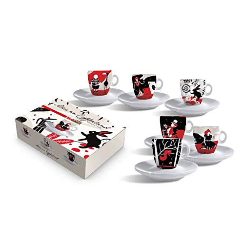 Set 6 Tazze da Caffè Collezione Molinari'Alice in CoffeeLand' - Edizione limitata