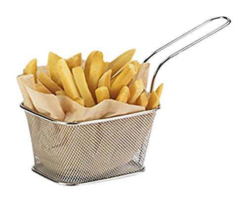 Mini-Körbe für Pommes Frites, Edelstahl, 10x 8x 7cm, 6 Stück