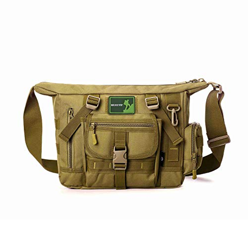 Huntvp Tactical Messenger Bag Shoulder Bag Cross Body Bag Belt Sling Bags Laptop For Working Cycling Hunting Camping Trekking