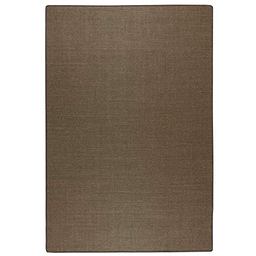 havatex: Sisal Teppich Trumpf - hypoallergene Naturfaser | schadstoffgeprüft pflegeleicht schmutzabweisend robust strapazierfähig, Farbe:Braun, Größe:160 x 240 cm