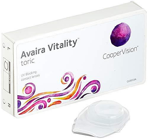Cooper Vision Avaira Toric Monatslinsen weich, 3 Stück/BC 8.5 mm/DIA 14.5 mm/CYL -1.25 / ACHSE 170 / +0.25 Dioptrien