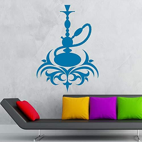 Wasserpfeife Vinyl Wandtattoo Arabisch Cafe Kultur Rauchen Shisha Wandaufkleber Moderne Dekoration Wohnzimmer Home Deco farbe-2 42x59 cm