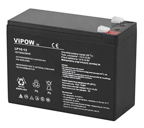 Vipow - Batería de Movilidad 12V 10Ah Para silla de ruedas eléctrica. Bateria de ciclo profundo de gel. Pila recargable