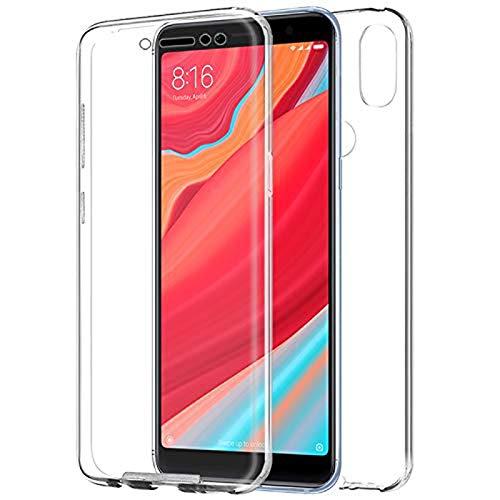 TBOC Funda para Xiaomi Redmi S2 (5.99 Pulgadas) - Carcasa [Transparente] Completa [Silicona TPU] Doble Cara [360 Grados] Protección Integral Total Delantera Trasera Lateral Móvil Resistente Golpes