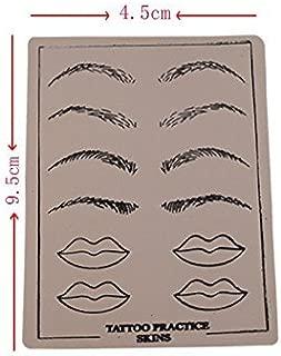 5 PCS 14.519.5cm Permanent Makeup Eyebrow lips Tattoo Practice Skin Set For Beginners