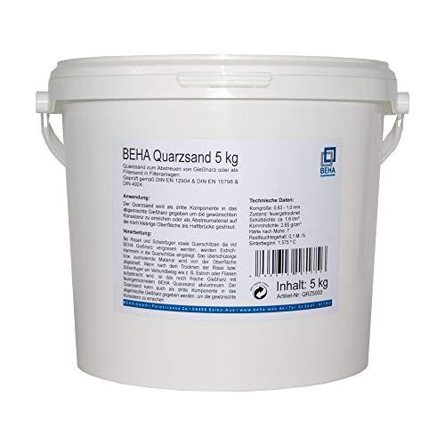 Quarzsand zum Abstreuen von Gießharz oder als Filtersand für Filteranlagen 5 kg