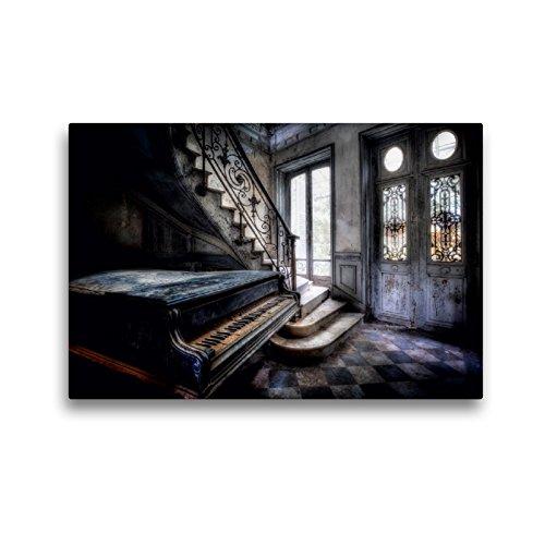 CALVENDO Premium Textil-Leinwand 45 x 30 cm Quer-Format Chateau Verdure, Leinwanddruck von Oliver Jerneizig
