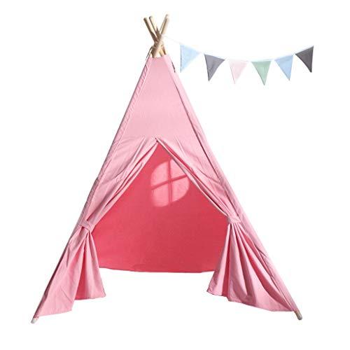 KJZhu Tiendas de campaña Princesa de la muchacha de los indios norteamericanos con Windows, princesa dormitorio decorado Tent - Playhouse, Fotografía de niños al aire libre Puntales Tiendas iglú