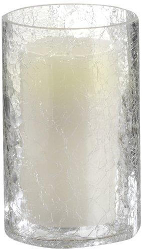 Greemotion 622006 Glaswindlicht zylindrisch mit LED Kerze 10 x 16 cm