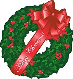 Merry Christmas Red Wreath Magnet