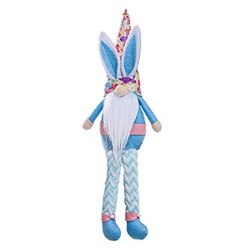 Lingge Sueco Bunny GNOME Plush Easter Gnomes Plush GNOME Plush Easter Bunny Doll Regalos Hechos a Mano Adornos para el hogar Regalos para Adultos Amazing