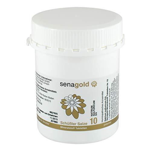 Schüssler Salz Nr. 10 - Natrium sulfuricum D6 | Tabletten | glutenfrei (1000 St.)