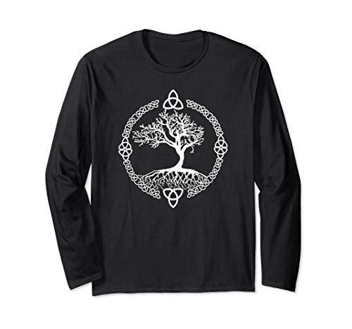Celtic Knot Shirt Long Sleeve Tree of Life Shirt Yggdrasill