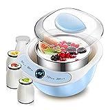 SNJDX Máquina de Yogur pequeña Completamente automática para el hogar fermentador Interior de Acero Inoxidable Inteligente Fabricante de Yogur casero