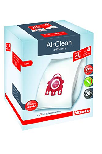 Miele AirClean 3D Allergy XL-Pack, FJM FilterBags Vacuum Bag, White
