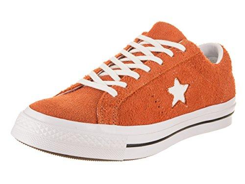 Converse Unisex-Erwachsene Lifestyle One Star Ox Sneakers, Mehrfarbig (Bold Mandarin/White/White 810), 43 EU