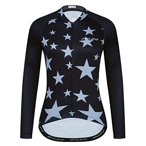 Ciclismo Jersey manga larga mujeres bicicleta superior montaña carretera MTB camisas ropa otoño, 344, XXXL