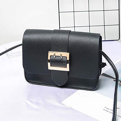 Kariwell Women Backpack Fashion Lady Shoulders Small Backpack Letter Purse Mobile Phone Messenger Bag. Best Gift for HER! Kari-10 (Black)