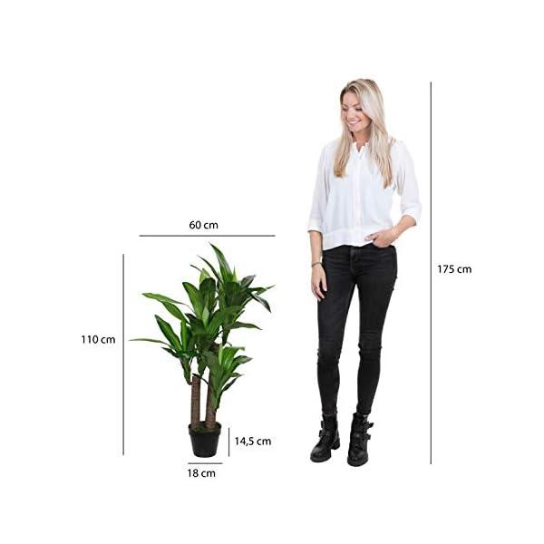 MICA Decorations 1026439Dracaena en Maceta Verde–H110X d60cm Planta Artificial, Goma, Verde, 60x 60x 110cm