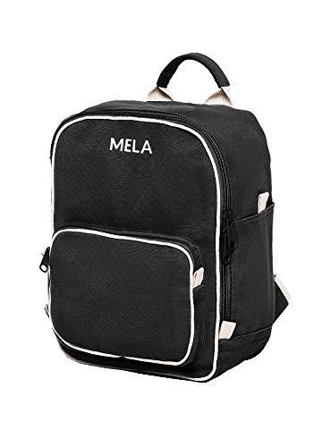MELAWEAR MELA II mini Rucksack - Nachhaltig mit Fairtrade Cotton, GOTS und Grüner Knopf Zertifizierung, Farben MELA II:schwarz