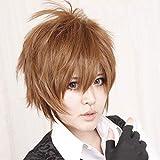 Anime japonés Card Captor Sakura LI SYAORAN cosplay peluca Hong Kong Boy Brown corto Ri Syaoran peluca cos disfraz talla única marrón