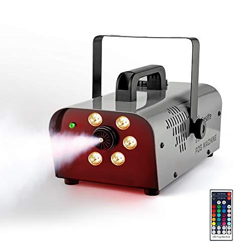 Easife Fog Machine with Lights Professional Smoke Machine fog Wireless Remote Portable 2000CFM Huge Fog Maker Generator…